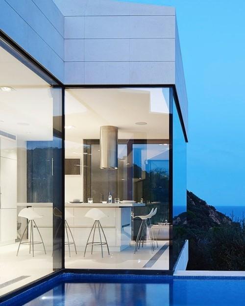tumblr_pg9v7cf8gu1qfx0suo1_500 stua:  Cala Canyet House by Anna Podio architect with STUA Onda... Contemporary