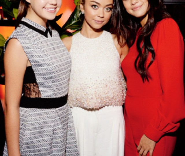 Bailee Madison Sarah Hyland And Selena Gomez Attend Variety And Women In Film Emmy Nominee Celebration On August 23