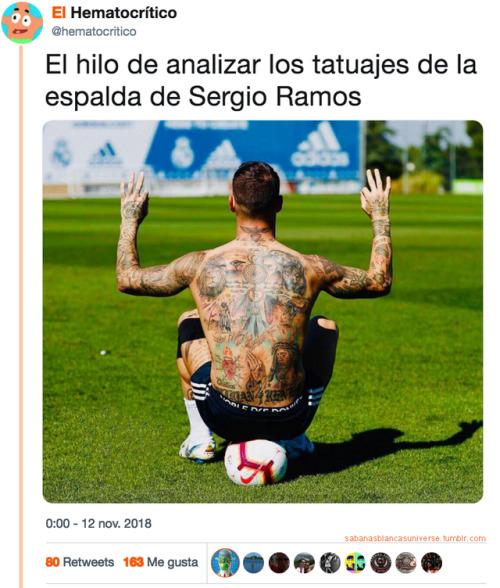 Todos los tatuajes de Sergio Ramos