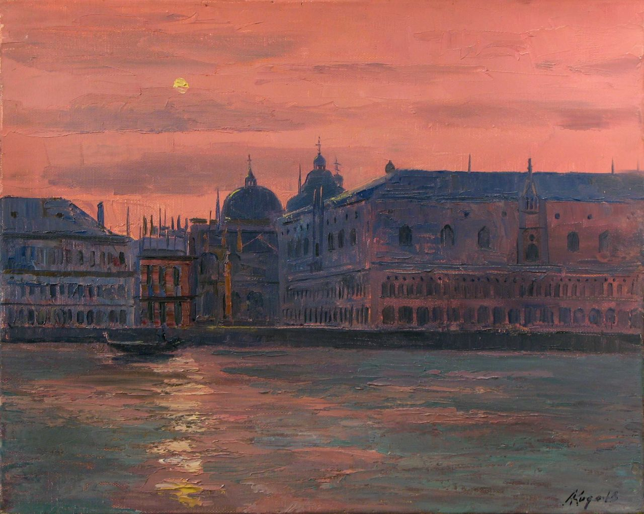 """huariqueje: """" Venice - Andrei Kugaevski Russian, b. 1958- Oil on canvas, 40 x 50 cm. """""""