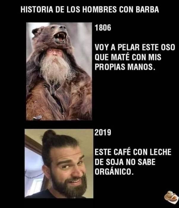 Evolución de las barbas