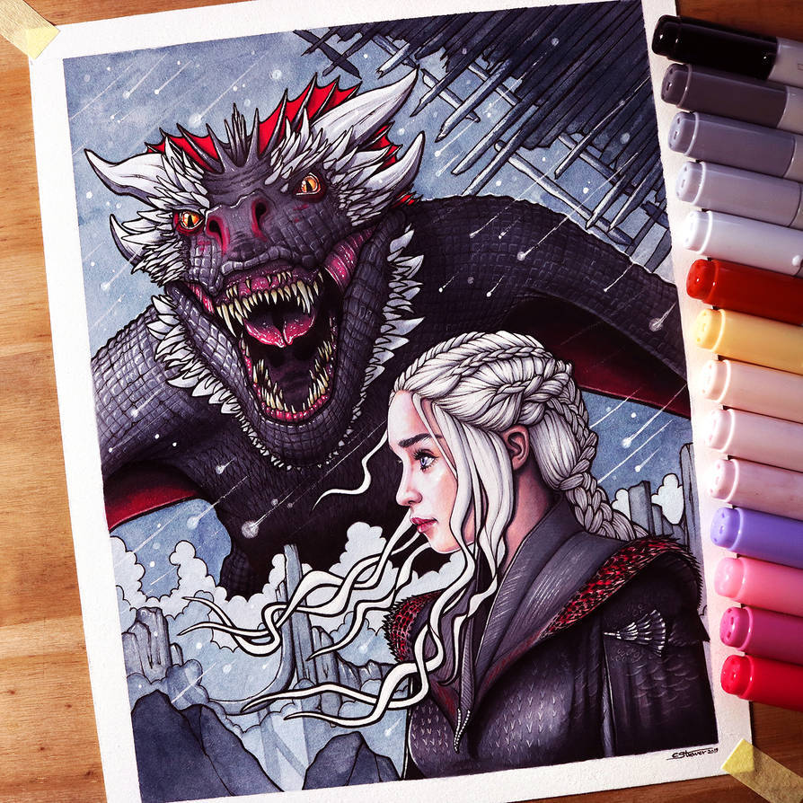 Daenerys and Drogon Drawing – Game of Thrones … – Game of