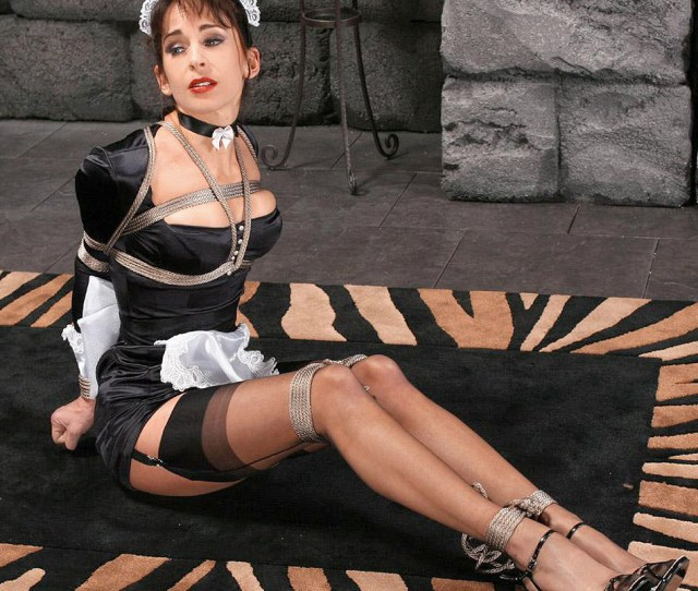Naughtysoze Katrina Santos By Bondage Cafe Loving The Bondage And Maid Outfit