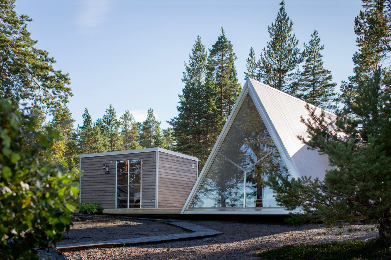 cabinporn:  Crosslam A-frame cabin in the north of Sweden Built in 2016 inspired by the original cabin built in the same place in 1959. Photo by Patrick Degermanconstruction photostimelapse even more