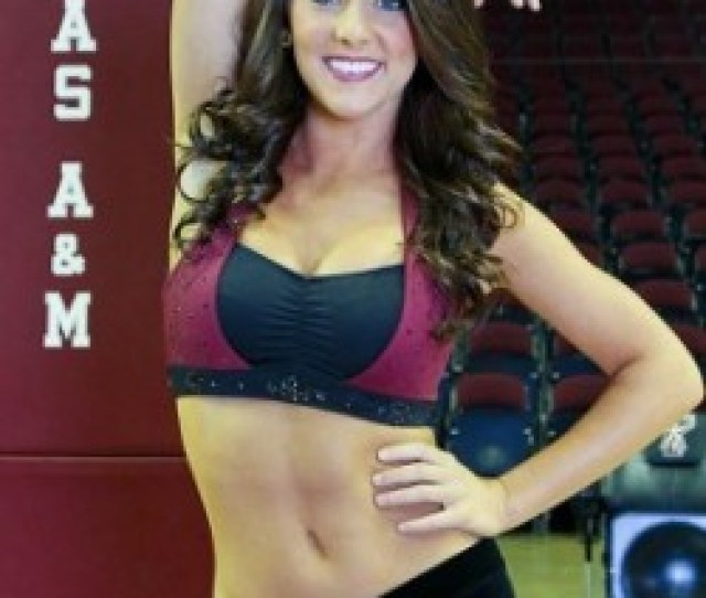 Hot Texas Am Aggie Football Cheerleaders Cheer On Johnny Manziel And Company In Sec Action