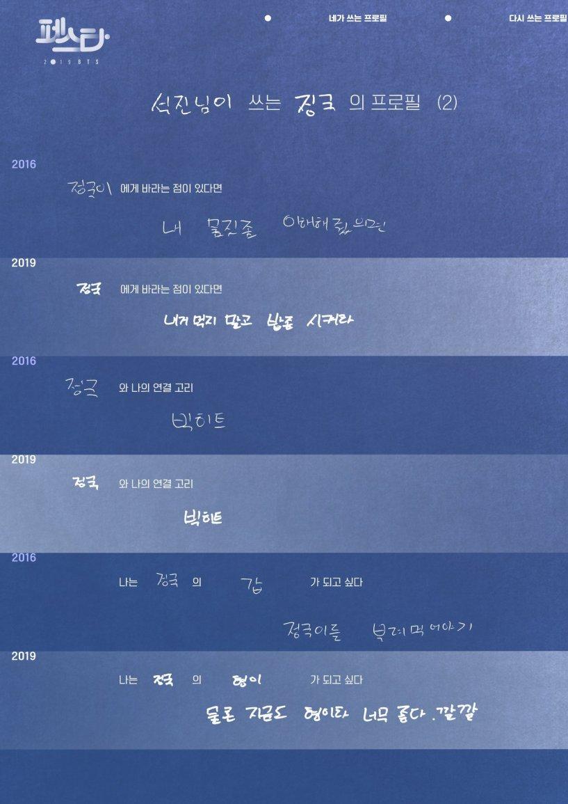 allforbts: 2019 BTS FESTA BTS Profile – Jungko… – Bangtan Boys