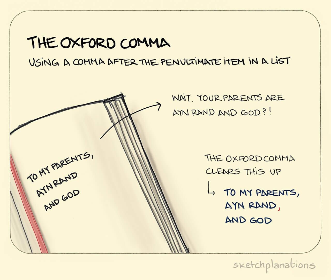 The Oxford Comma The Oxford Comma Is The Comma