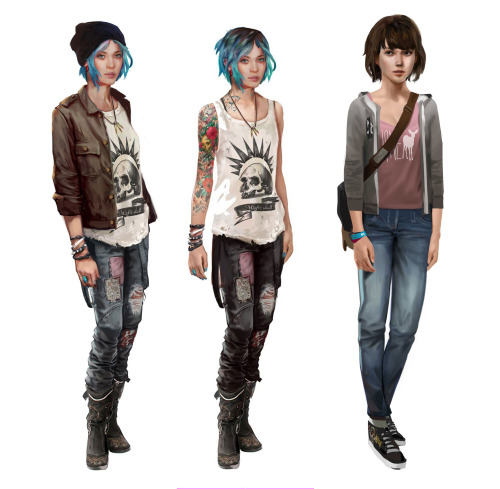 I hope we keep getting more posts from the concept artists but in the mean time here's a higher resolution Chloe and Max from the JP site. Bonus Chloe in her jacket and beanie!