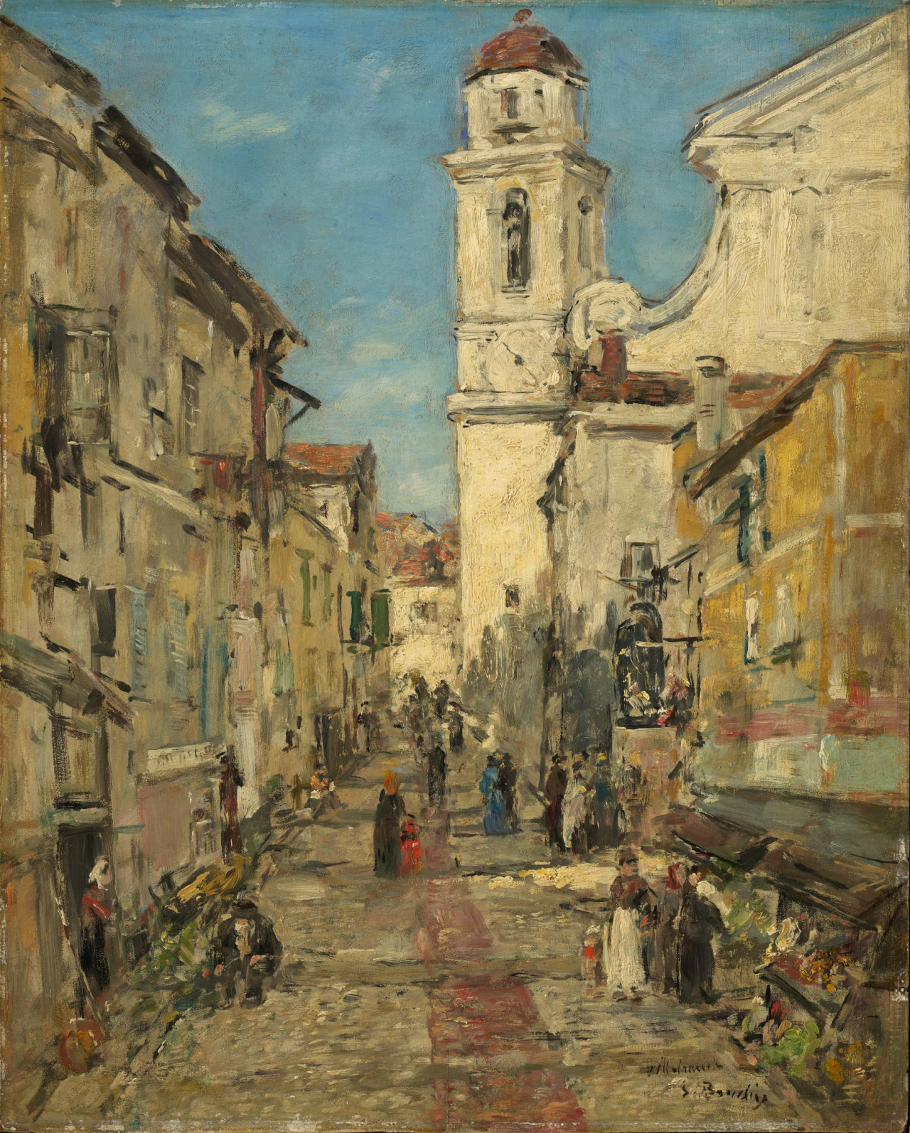 """amare-habeo: """"  Eugène Boudin (French, 1824-1898) Villefranche, 1892 Oil on wood, 41 x 32,7 cm """""""