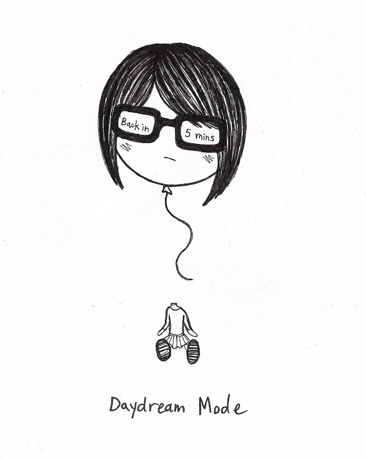 Chibi Anime Daydreaming