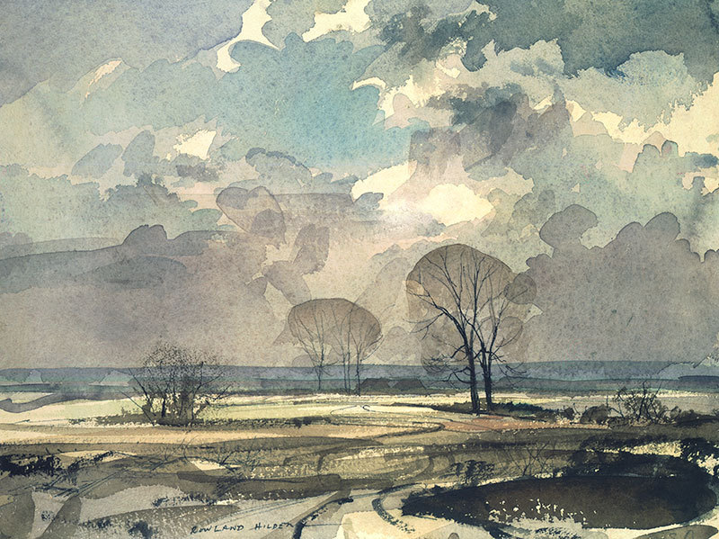 Rowland Hilder (UK 1905-1993) February, 1988 pencil and watercolour 53 x 71 cm