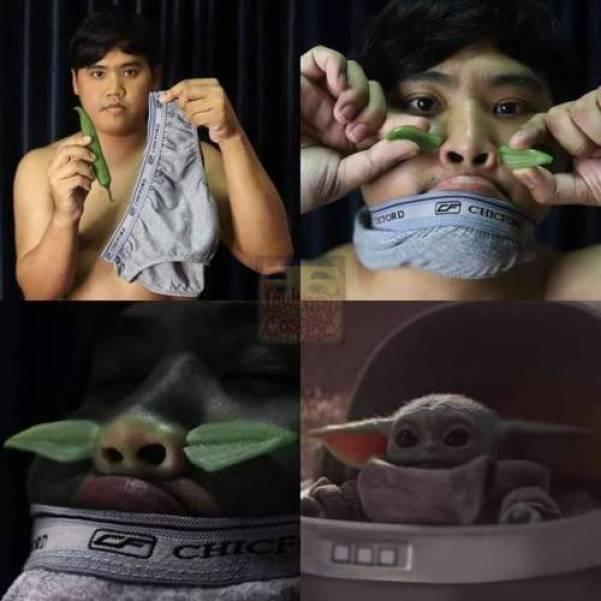 Baby Yoda Cosplay