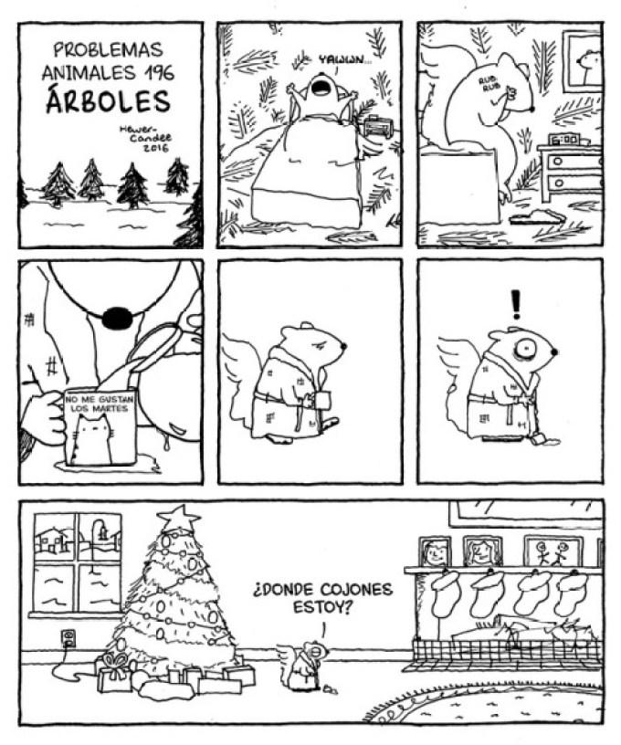 Problemas de las ardillas con la Navidad
