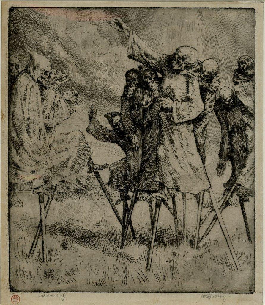 William Strang, Danse Macabre, ca. 1893, British Museum via Love Like Cancer