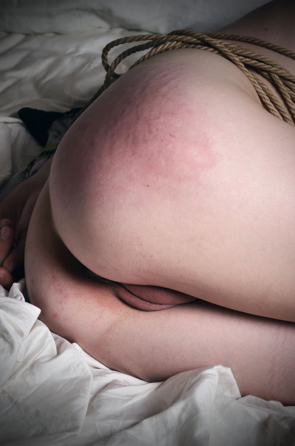 visualsanctity:  Rope and a freshly used cunt