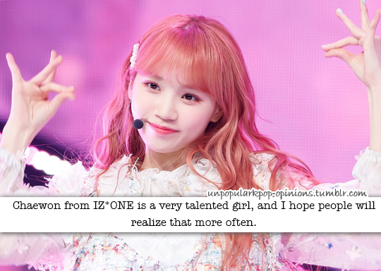 chaewon from izone is a very talented girl and… – KPop Fan