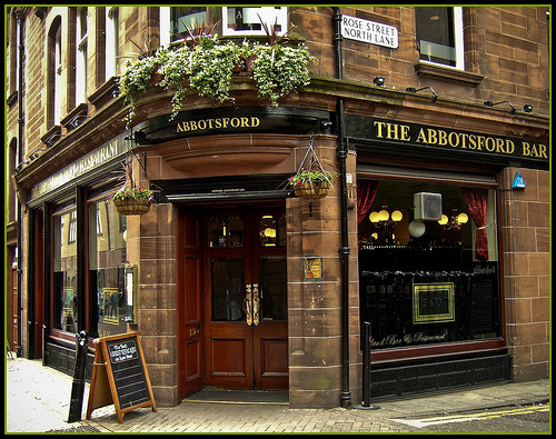 The Abbotsford Bar, Rose Street, Edinburgh