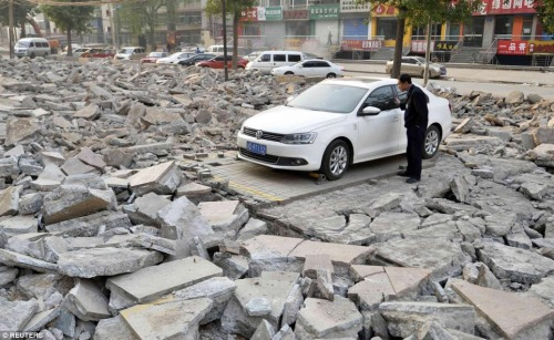 """catastrofe: """"when the earthquake strikes but it's like your lucky day. Sort of. Not really. """""""