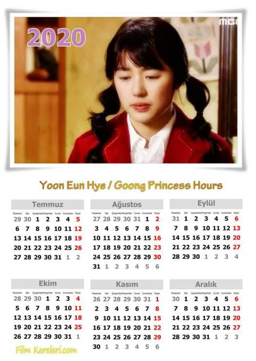 Yoon Eun Hye,Prince Hours,Goong  s,My Fair Lady, Kang Hyena,Personal Preference,Yoon Eunsoo,Marry Him İf You Dare,Na Mi Rae,İ Miss You,Lee Soo-Yeon,Lie To Me,Gong Ahjung,The Vineyard Man,Lee Jihyun,Tic Tok,Bubi Bubi,Saying I Love You,Missing You,Marry Him If You Dare,Lie To Me,윤은혜,윤은혜,1984,calender,