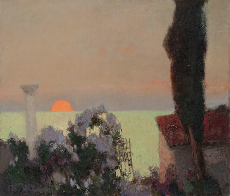 huariqueje:Lilac, Sunset  -  Igor Shipilin 2013Russian b.1961- Oil on canvas,  60х70 cm.