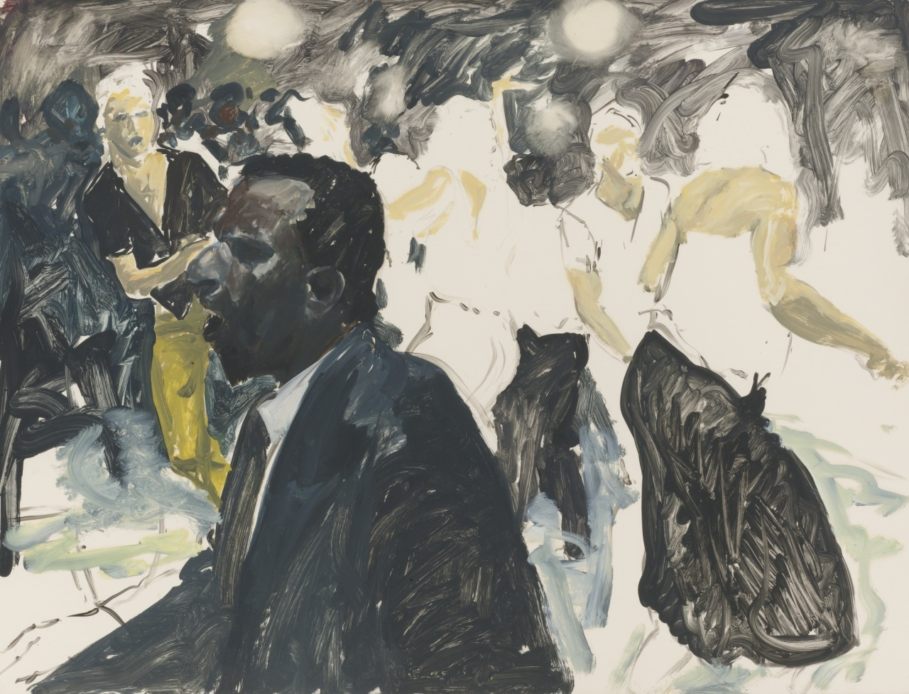thunderstruck9:Eric Fischl (American, b. 1948), Untitled, 1984. Oil on paper, 35 x 46 in.