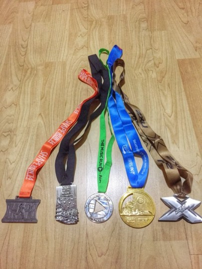 first set of medals