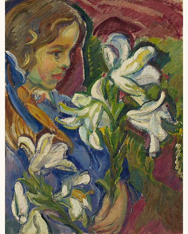 "lilithsplace: "" 'The Artist's Daughter with Lilies' - Nikolai Tarkhoff (1871–1930) oil on canvas 