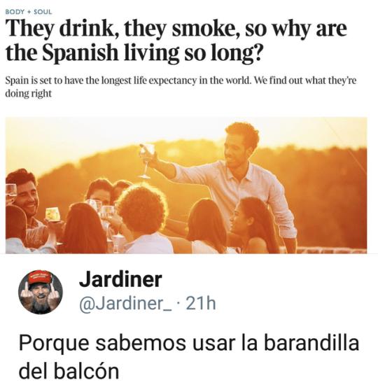 El secreto de la longevidad española