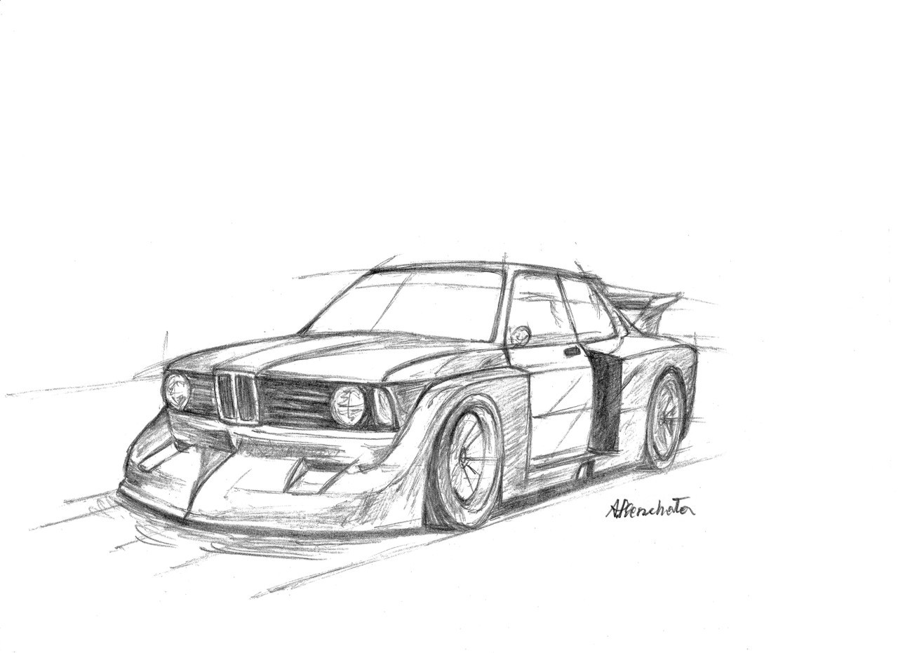 Paper Garage Car Drawings