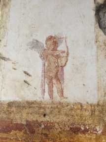"didoofcarthage: ""Cupid fresco from a villa at Stabiae, Italy """