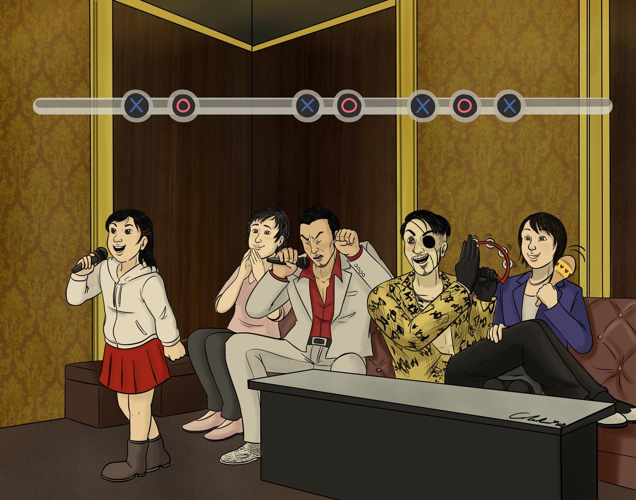 Amber Ross Cartoonist My Dream Yakuza Game Where Everyone Is
