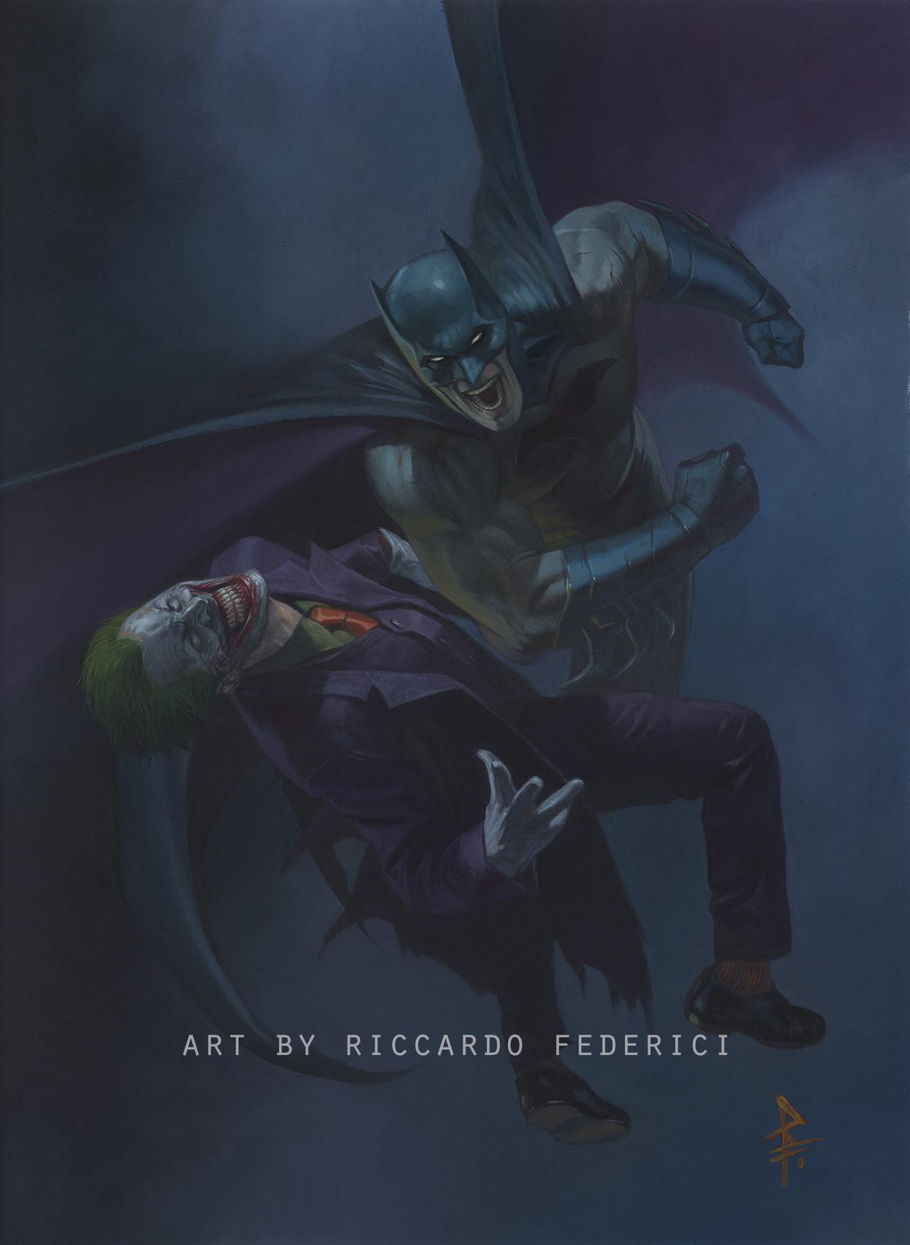 Batman vs The Jokerby Riccardo Federici – DC Comics