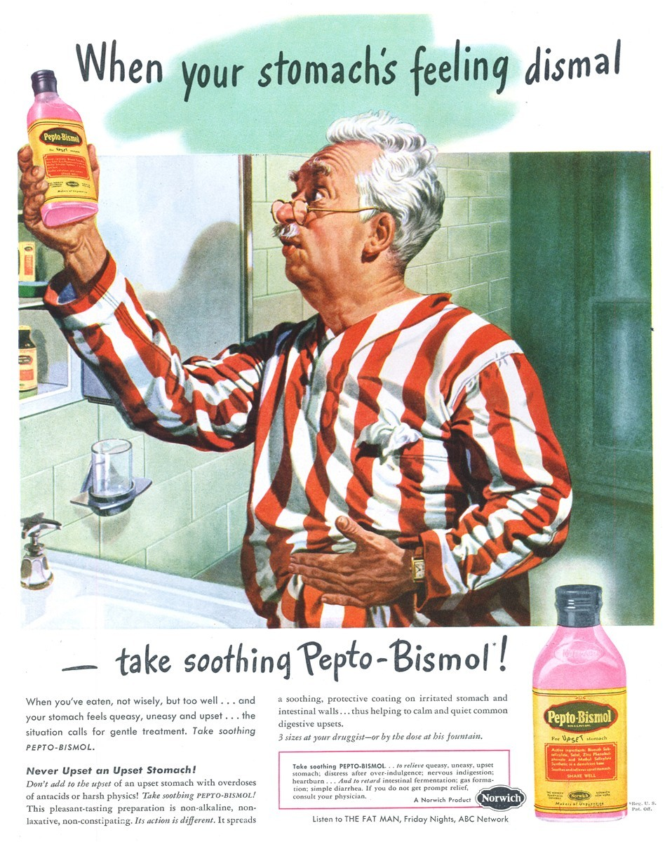 Pepto-Bismol - published in Life - April 21, 1947