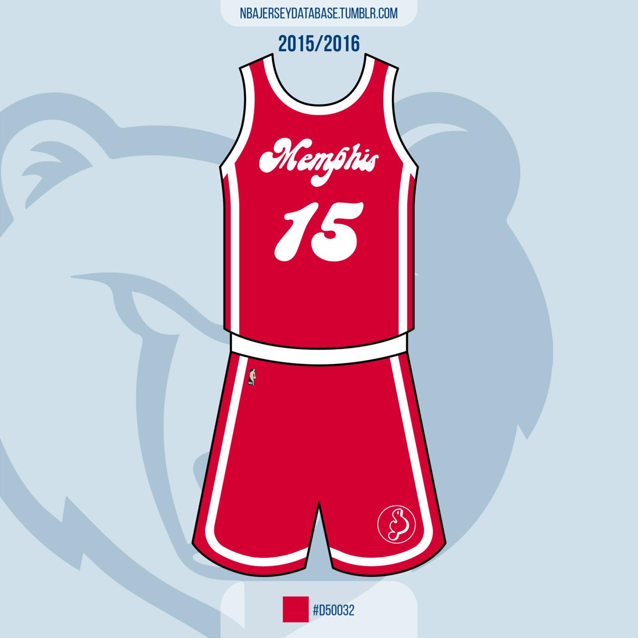 Memphis Grizzlies Hardwood Classic: Memphis Sounds Jersey 2015-2016