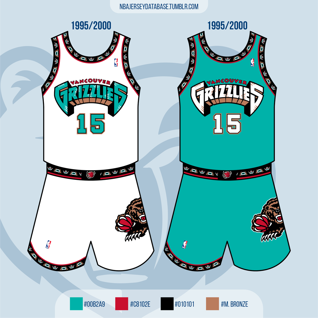 Vancouver Grizzlies 1995-2000 Record: 78-300 (21%)