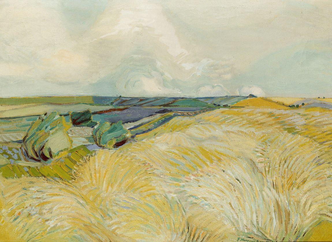 """terminusantequem:"""" Fritz Kronenberg (German, 1901-1960) [Norddeutsche Landschaft], n/d"""""""