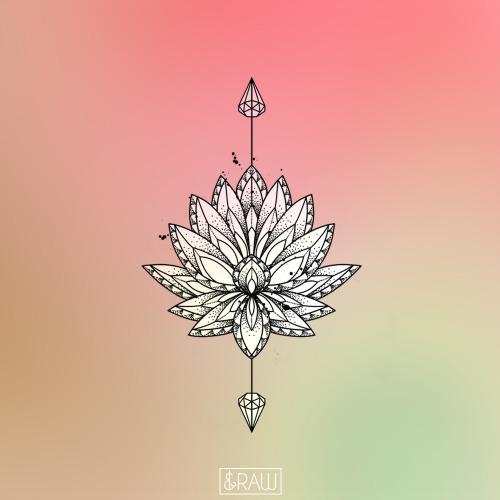 Dotwork Lotus Tumblr