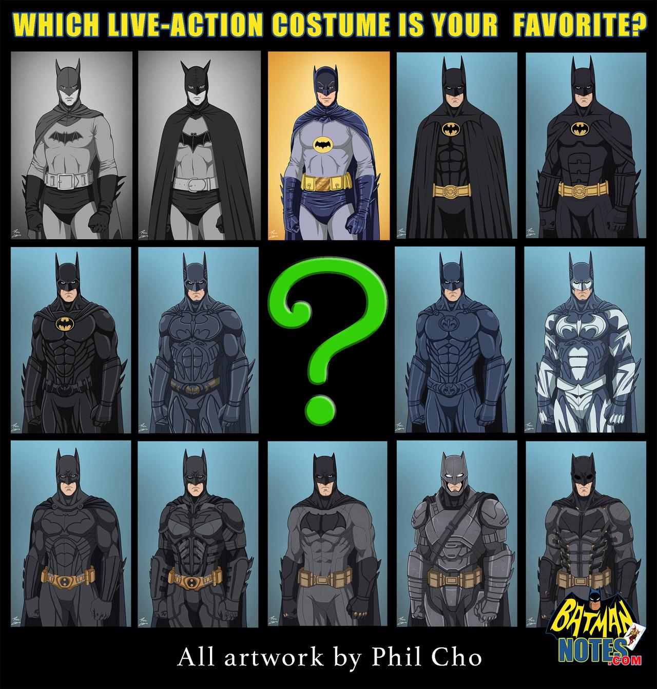 Live-Action Batman Costumes – DC Comics