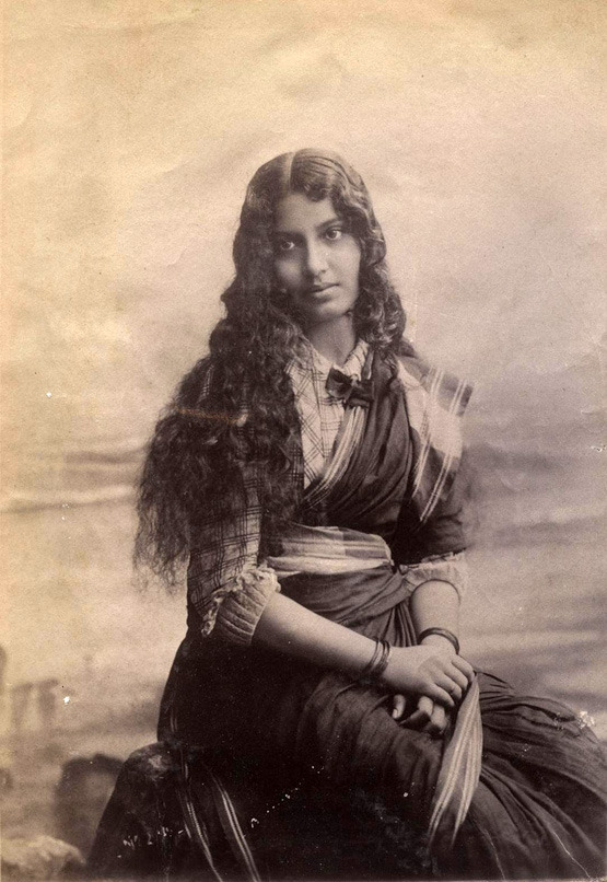 "sisterwolf: "" Hindu Christian Medical Lady - Bombay "" Now and then I have a sudden love for prim Victorian looking sari blouses. Probably 1890s [X]"