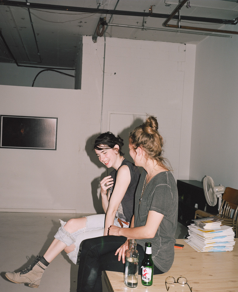 "maxymegdelisle: "" Estelle and Camille laughing, Montreal, 2013 Tried to play a bit with a flash on the Mamyia7… """