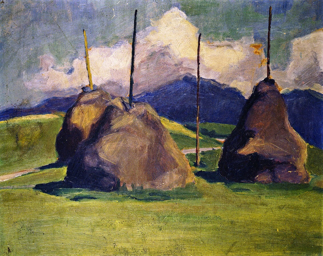 "terminusantequem: "" Franz Marc (German, 1880-1916), Haystacks, 1910 """