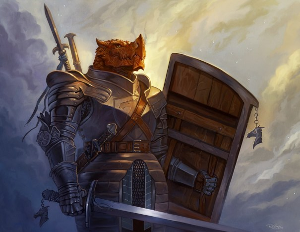 nickroblesart: Dragonborn Paladin (2015) A p… – Fantasy