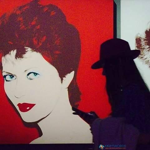 #andywarhol #popart #vittoriano #exposition #warhol #people #portrait #illustration #art #wear #veil #painting #mustache #cap...