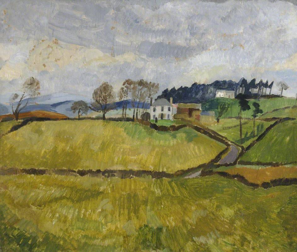 "huariqueje: ""  Cumberland Landscape - Christopher Wood , 1928 British, 1901–1930 Oil on board, 51 x 60.5 cm """