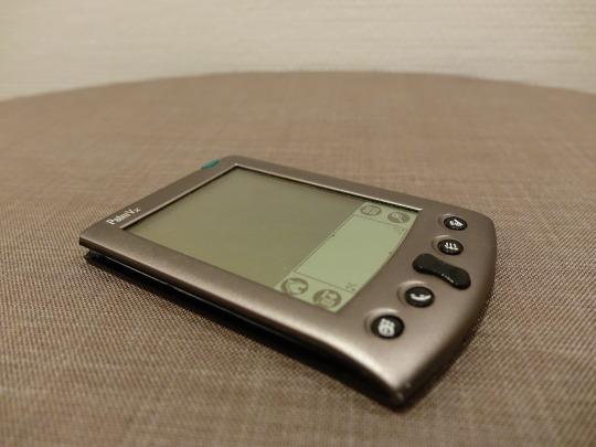 Der PDA Palm Vx. Ein Designstück für mein Computermuseum mit Stücken der 90er Jahre