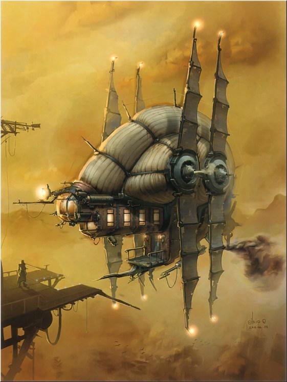 steampunk airship star wars style