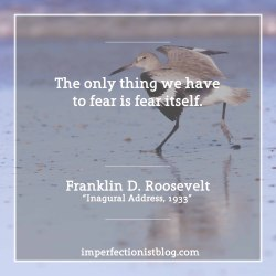 "#328 - ""The only thing we have to fear is fear itself."" -Franklin D. Roosevelt"