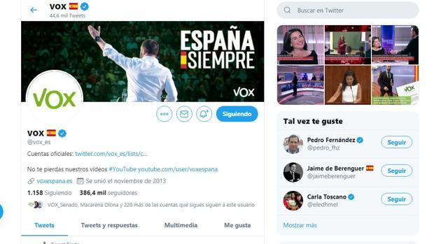 La intolerancia tiene un precio: Twitter suspende la cuenta de Vox por «incitación al odio»