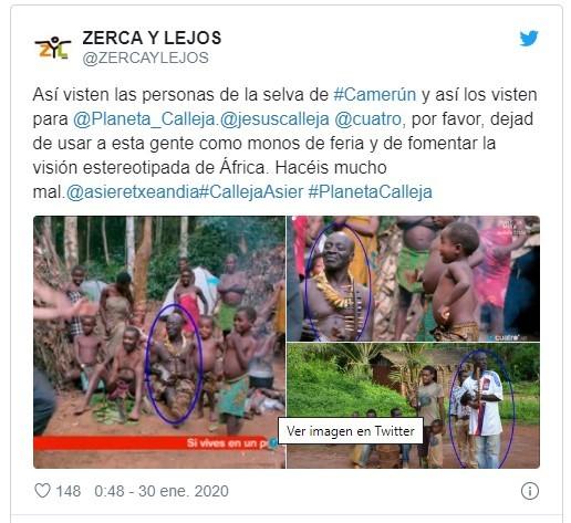 Una ONG critica a Jesús Calleja por tratar a los indígenas como monos de feria