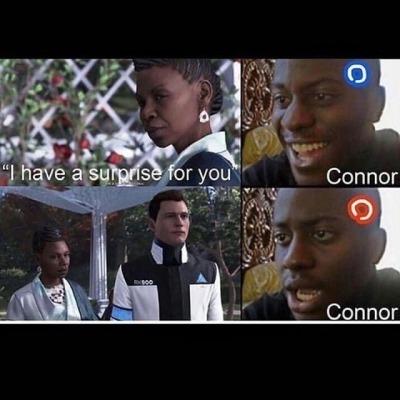 Connor Slaps Hank Detroit Become Human Sh Tty Meme I M Sorry